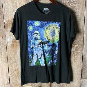 Star Wars Storm Trooper Van Gogh Style Graphic Tee